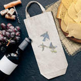 Cotton Custom Wine Gift Bag Eastern Bluebird James Audubon Birds Animals Housewarming & Party Accessories Natural Canvas Tote Design Only