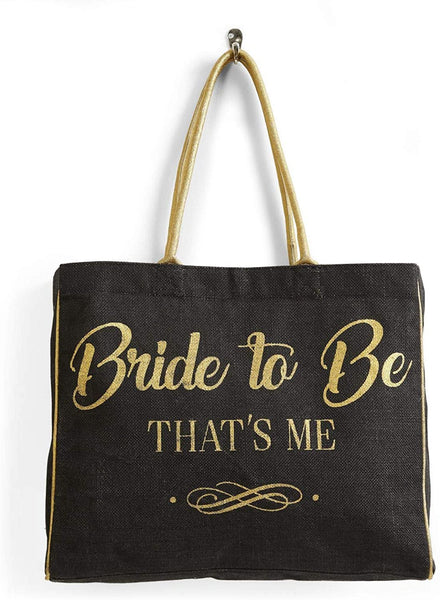 Mona B. Bride To Be Jute Burlap Tote Bag B-511