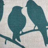 LAZAMYASA Fresh Animal Style Beautiful Rustic Birds Cotton Linen Blend Printed Cushion Cover Cotton Couch Throw Pillow Case Sham Pillowcase 12x20in,Black
