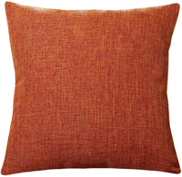 U'Artlines Pillowcase Covers, Slubbed Linen Orange Pillow Case Decorative Cushion Cover Pillowcase for Sofa Pillow Cover