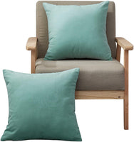 "MoMA Decorative Throw Pillow Covers (Set of 2) -Pillow Cover Sham Cushion Cover - Throw Pillow Cover - Sofa Throw Pillow Cover - Square Decorative Pillowcase - Cyan Green Blue - 18"" x 18"""
