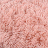 "NordECO HOME Luxury Soft Faux Fur Fleece Cushion Cover Pillowcase Decorative Throw Pillows Covers, No Pillow Insert, 18"" x 18"" Inch, Pink, 2 Pack"