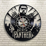 Wood Crafty Shop Black Panther Marvel Vinyl Record Wall Clock Gift for Him and Her Unique Wall Decor The Best Gift Idea for Any Event Birthday Gift, Wedding Gift