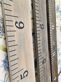 Custom Engraved Wooden Ruler Growth Chart: Carter Edition
