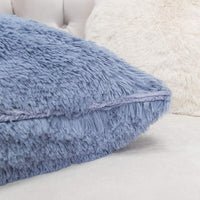 Homey Cozy Faux Fur Throw Pillow Cover,Baby Blue Double-Side Luxury Fluffy Super-Soft Plush Fur Decorative Couch Cushion Pillow Case 20 x 20 Inch, Cover Only