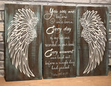"Angel Wings Wall Decor, Psalm 139:16-17""You saw me before I was born. Angels Scripture Verse, Shabby Chic Decor, Wall Decor, Nursery Decor, Baby Shower Gift, Housewarming, Wedding Gift"