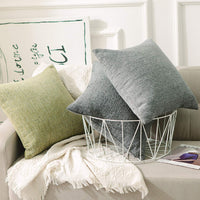 Home Brilliant Decorative Throw Pillow Case Home Decor Supersoft Striped Velvet Chenille Plush Cushion Cover for Baby, (45x45 cm, Set of 2), Light Grey
