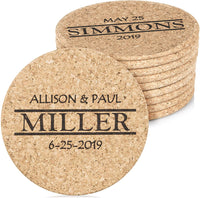 "Custom Catch Personalized Cork Trivet Gift - (2) 7"" Hot Pads - Customizable Housewarming Trivets with Home Design for Hot Dishes, Pots, Pans, Baking Sheets, Hot Plates for Table, Countertop, Kitchen"