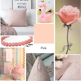 Home Brilliant Mother's Day Decoration Pillow Covers Supersoft Linen Cushion Covers Square Throw Pillows Cover for Couch, Baby Pink, 45x45 cm, Set of 4