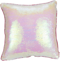 Juvale Unicorn Pillow Covers - 2-Pack Rainbow Sequin Decorative Couch Pillow Cases Reversible Magic Sequin Girls, Home DecorCushion Covers, Pink White, 16 x 16 inches