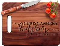 Personalized Cutting Board - 9 Design & 3 Size Options, Bamboo Cutting Board - Wedding Gifts for the Couple, Housewarming Gifts, Anniversary Gift, Grandma Gifts, Engraved Kitchen Sign & Decor - Handle
