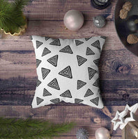 Musesh Grey Pillow Case, Sofa Pillow Covers Modern Kids B&Amp W Seamless Pattern with Pyramid Hand Drawn Graphic Black and for Home Decorative Farmhouse Pillow Cover 16X16 Pillow Covers