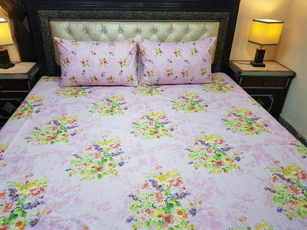 SINGLE & DOUBLE FLAT BED LINEN / BED SHEETS 100% COTTON PILLOW CASES *QUALITY*