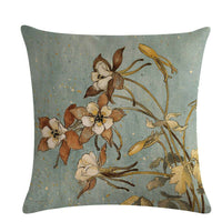 Home Decoration Plants Flowers Throw Pillow Cover Linen Vintage Linen Knitted JO