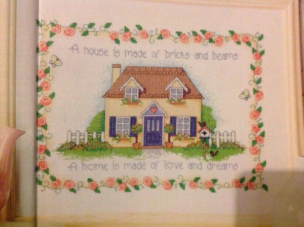 (R) A House Is A Home Housewarming Gift Cross Stitch Chart