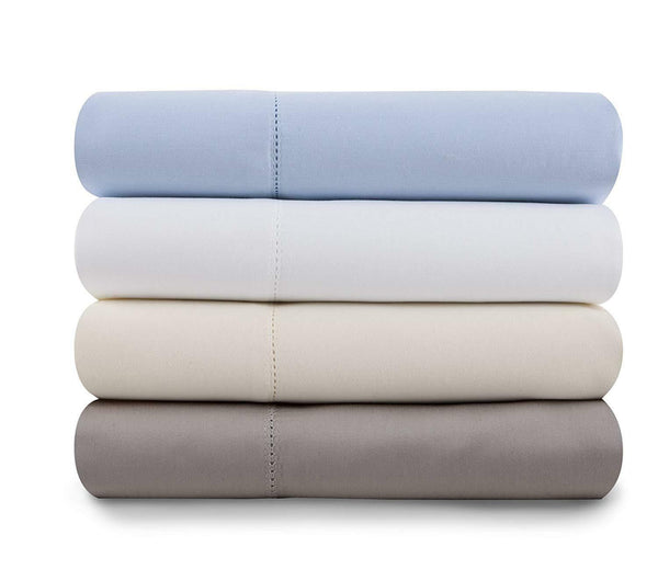 Baltic Linen 1000 Thread Count, Cotton Rich Sateen Queen Size Sheet Set, White