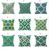 Diamonds Cotton Linen Pillow Case Office Waist Cushion Cover Home Decor New