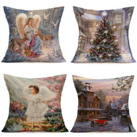 4PCS Linen Pillow Cases Sofa Cushion Cover Case Home House Decor