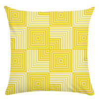 Linen Cotton Cushion Cover Yellow Pillow Cases with Zipper Home Decor for Sofa