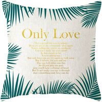 18 inches Cotton Linen Fashion Green Leaves Print Pillow Cases