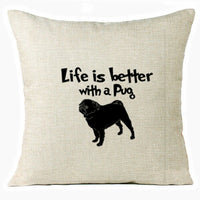 "18"" Dog Printed Linen Throw Pillow Case Sofa Cushion Cover Car Pillowcases Decor"