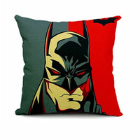 45x45 Linen Cotton Throw Pillow Case Sofa Cushion Cover Superman Batman HPICA453
