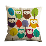 LOVE Of Owl Cotton Linen Pillow Case Decorative Cushion cover New