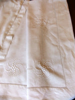 "Bed Linen Wire Linen in Monogram "" LC "" - Sheet 2m30 x 3m10 +2 Pillowcases"