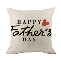 Father's Day Cushion Cover Linen Pillowcases Comfortable Sofa Home Decorative