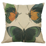 "18"" Printed butterfly Cotton Linen Pillow Cases Cushion Cover Waist Home Decor"