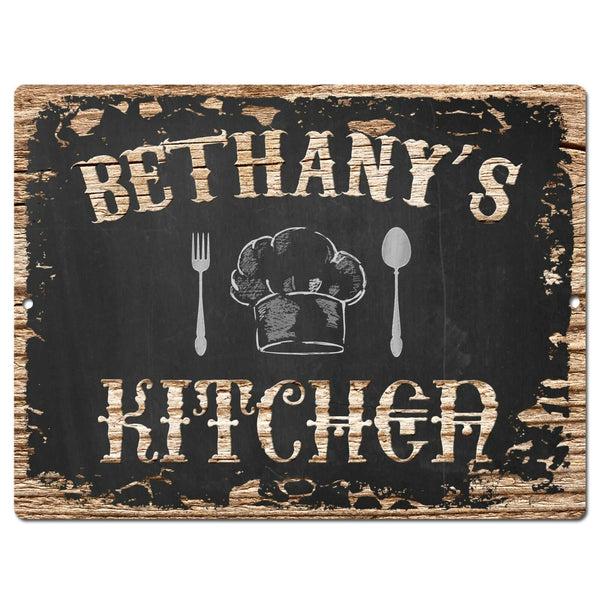 PP2506 BETHANY'S KITCHEN Plate Chic Sign Home Room Kitchen Decor Birthday Gift