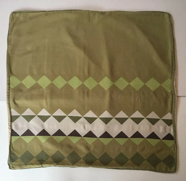 * LINEN HOUSE EUROPEAN PILLOW CASE Aztec Green Brown Beige 65cm - VGC