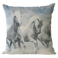 Nordic Ink Painting Horse Series Linen Pillow Case Cushion Cove Gift