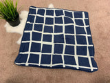 IKEA Accent Pillow Case Gitte Zip Closure 20x20 Blue Graphic Cotton 102.982.98