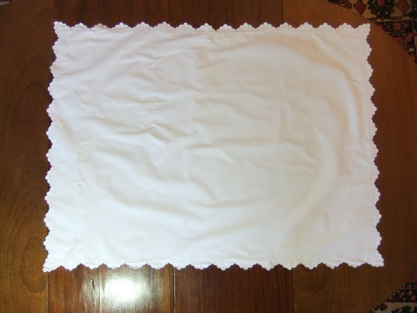 Lot of 2 Very large Pillowcases 110 x 80 cm - linen downgraded 2è choice