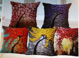 Vintage Flower Cotton Linen Pillow Case Styles 3D Cushion Cover Bags Decor Qty 3