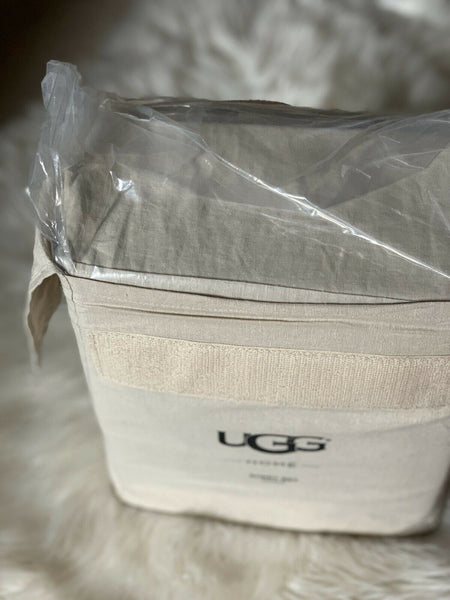 UGG Soft Taupe Aurora Linen Blend Sheet Set NWT