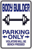 Cheerleader Parking Metal Sign Gift Free Shipping