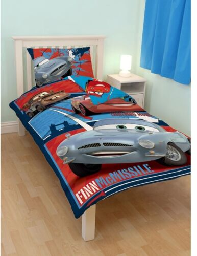 Disney Pixar Cars 2 Reversible Bed Linen 135x200 Mcmissile Mcqueen Spy New Ob