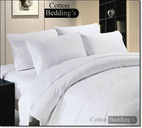 800 1000 TC 100% Egyptian Cotton Hotel Scala Brand Bed Linen in White Solid **