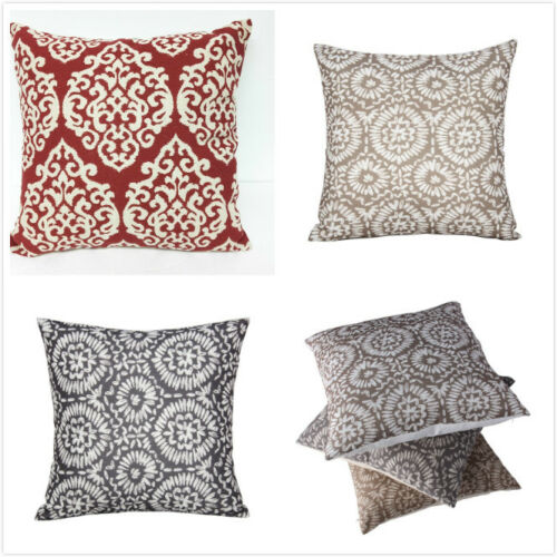"16"" Vintage Linen Cotton Throw Pillow Case Cushion Cover Home Sofa Decor US New"