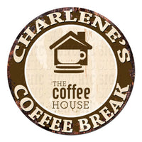 CWCB-0220 CHARLENE'S COFFEE BREAK Chic Tin Sign Decor Gift Ideas