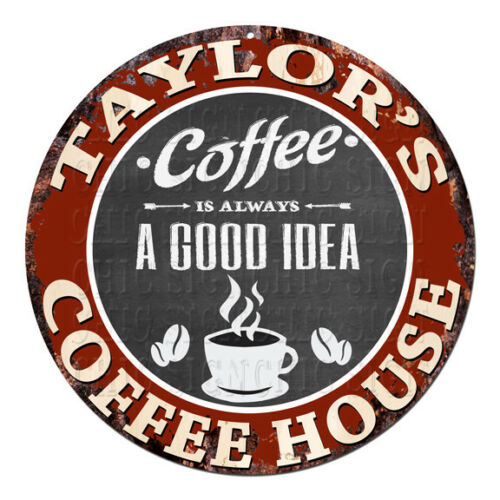 CPCH-0805 TAYLOR'S COFFEE HOUSE Chic Tin Sign Decor Gift Ideas