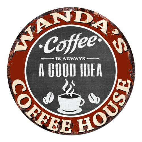 CPCH-0087 WANDA'S COFFEE HOUSE Chic Tin Sign Decor Gift Ideas