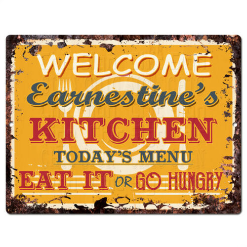 PPKM0803 EARNESTINE'S KITCHEN Rustic Chic Sign Funny Kitchen Decor Birthday Gift