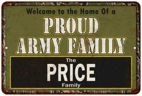 Price Proud Army Family Personalized Gift Metal Sign 108120023084