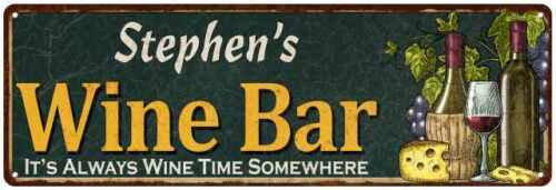 Stephen's Wine Bar Green Chic Sign Home Kitchen Décor Gift 106180001239