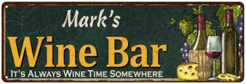 Mark's Wine Bar Green Chic Sign Home Kitchen Décor Gift 106180001219