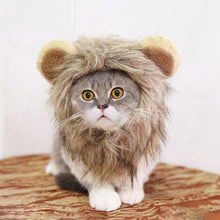 Load image into Gallery viewer, Halloween Funny Cute Pet Costume Cosplay Lion Mane Wig Cap Hat for Cat Xmas Clothes Fancy Dress with Ears Pet Dog Cats Product