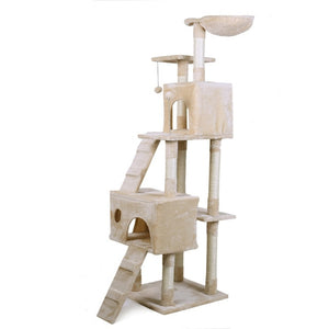 Europe Domestic Delivery Cat Scratching Furniture Cat Jump At Home Wooden Funny Training Cat Tree With Stairs Height 175 cm